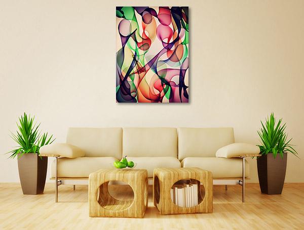 Colourful Connection Prints Canvas