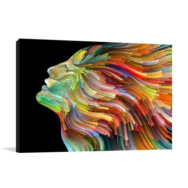 Colourful Face Print on Canvas