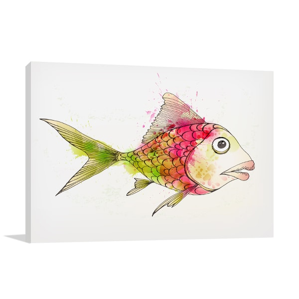 Colourful Fish Prints Canvas