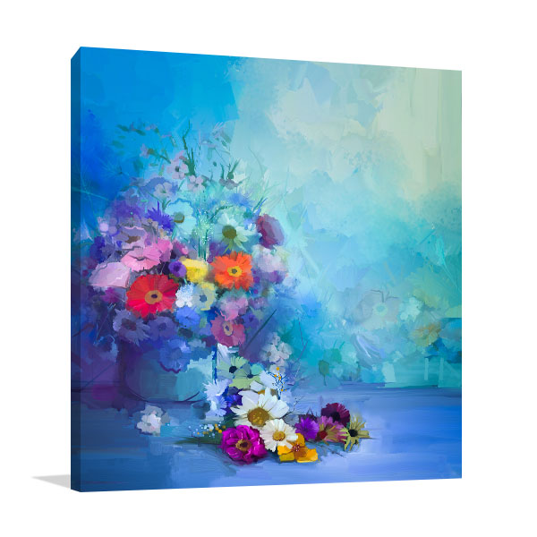 Colourful Flowers Canvas Prints