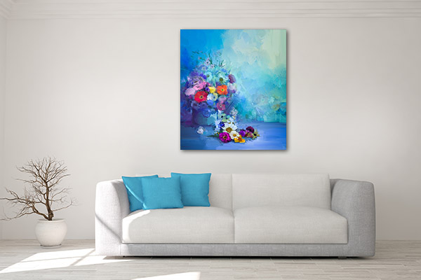 Colourful Flowers Prints Canvas