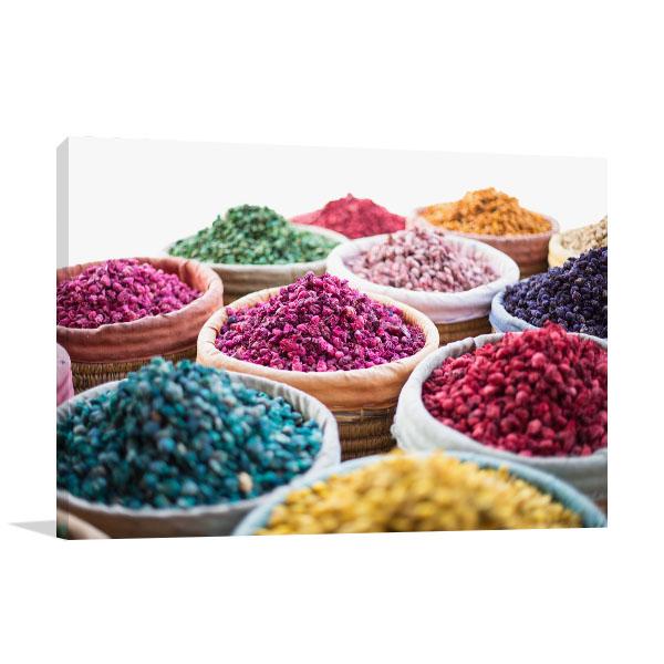 Colourful Herbs Wall Art