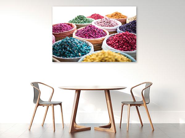 Colourful Herbs Canvas Prints