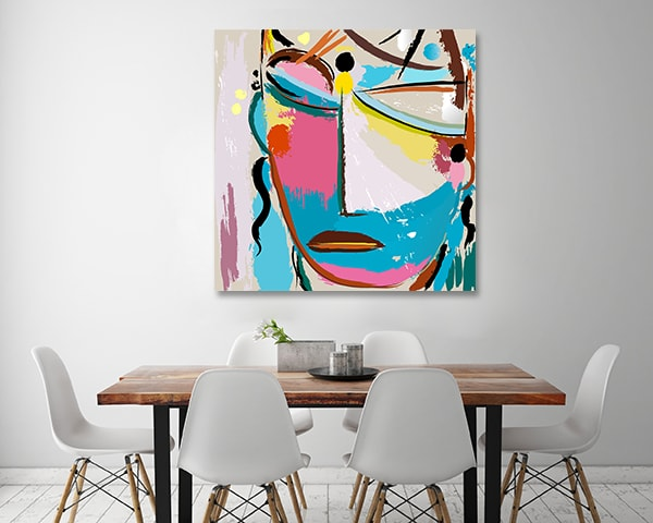 Colourful Mask Canvas Art Print