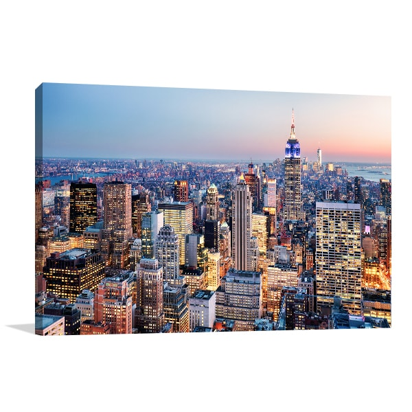 Colourful New York Prints Canvas