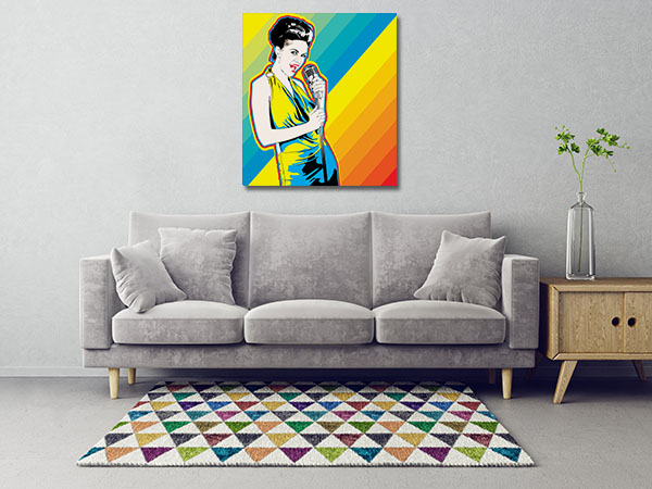 Colourful Singer Canvas Prints