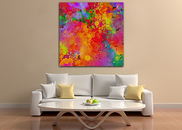 Colourful Splash Canvas Prints
