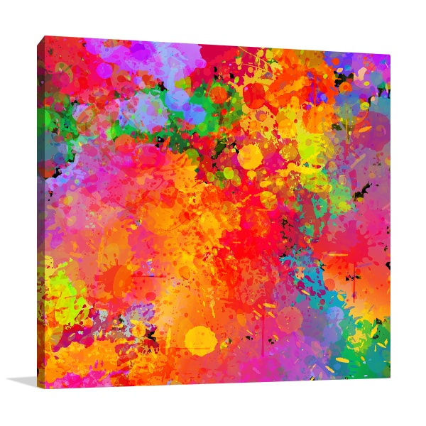 Colourful Splash Wall Art