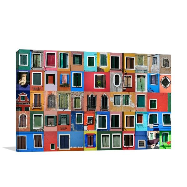 Colourful Windows Canvas Prints
