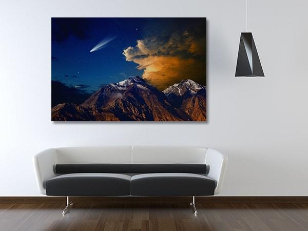 Comet View Prints Canvas