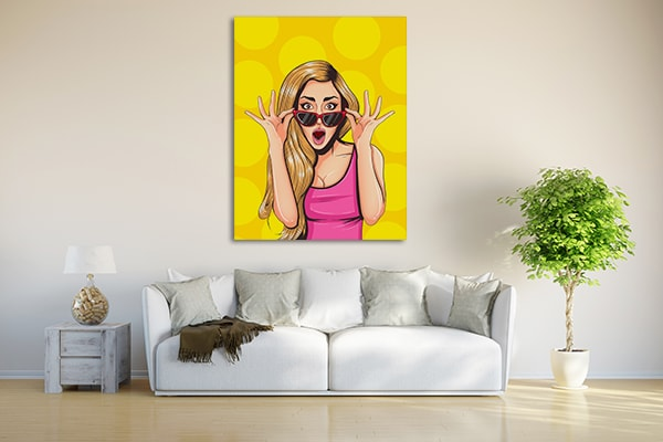Confused Girl Canvas Art