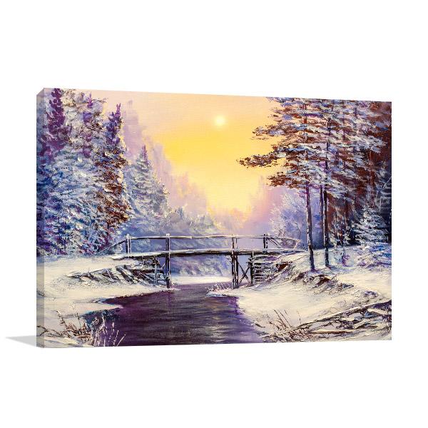 Cool Winter Scene Prints Canvas