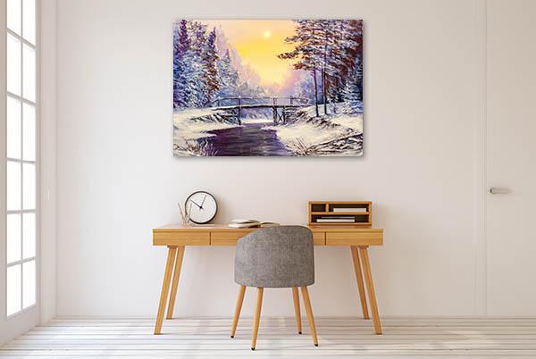 Cool Winter Scene Canvas Prints