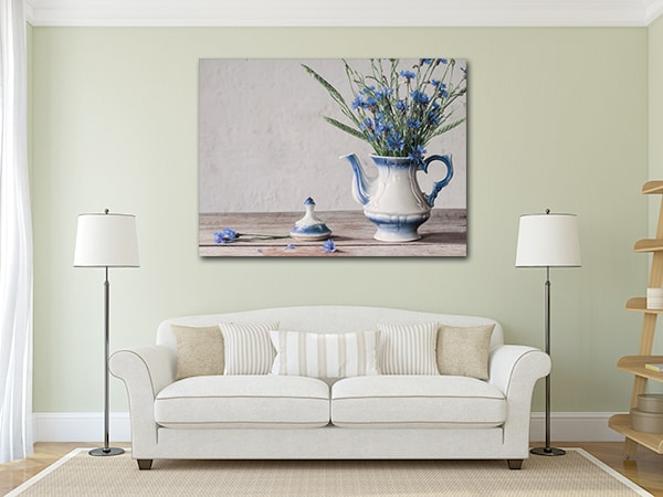 Cornflower Art Prints on the Wall