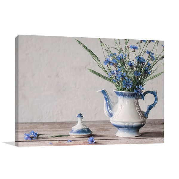 Cornflower Canvas Art Print
