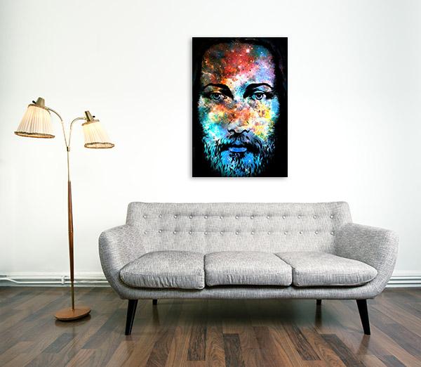 Cosmic Jesus Christ Canvas Prints