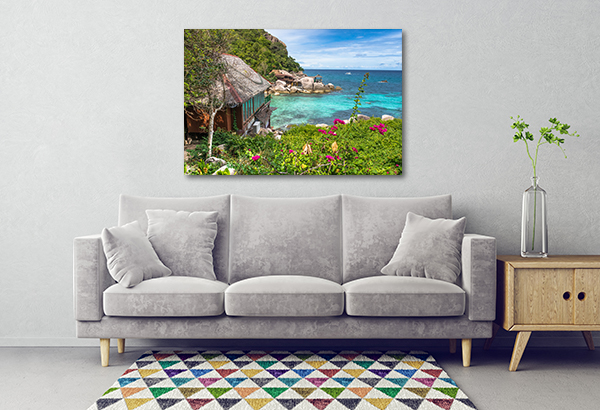 Cottage By The Beach Art Prints