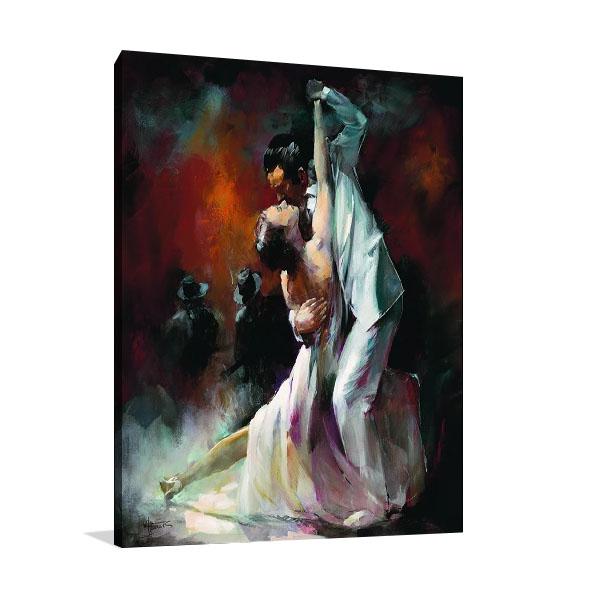 Couple Dancing Tango Print on Canvas