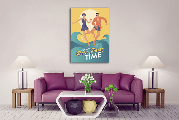 Couple In Bath Clothes Canvas Prints