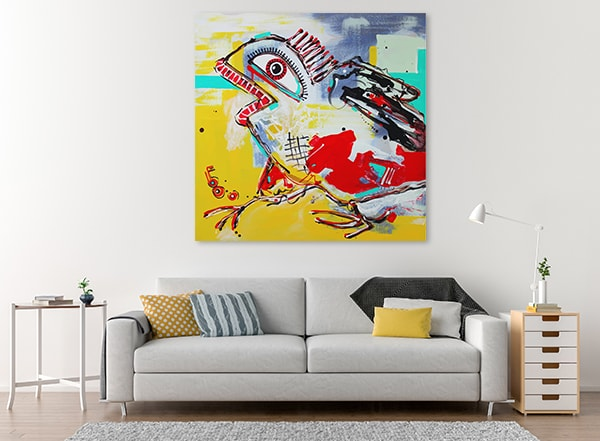 Crazy Bird Canvas Art on the Wall