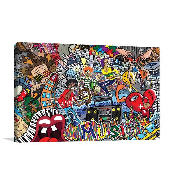 Creative Music Fun Canvas Prints
