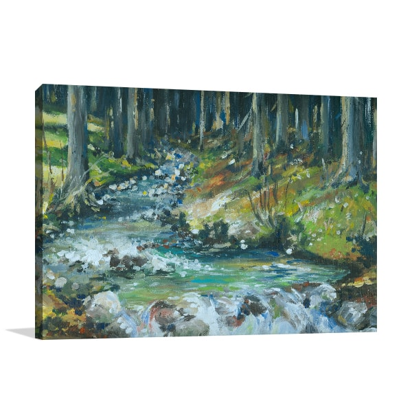 Creek in Forest Wall Art