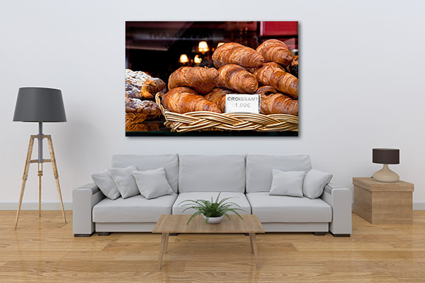 Croissant in Paris Art Prints