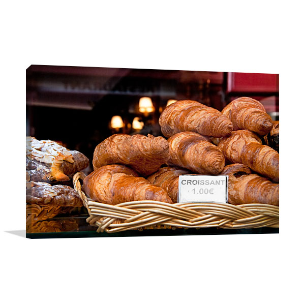 Croissant in Paris Canvas Art