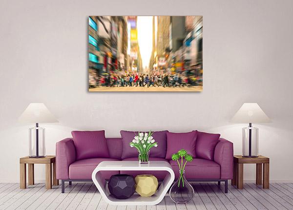 Crowded Street Canvas Prints