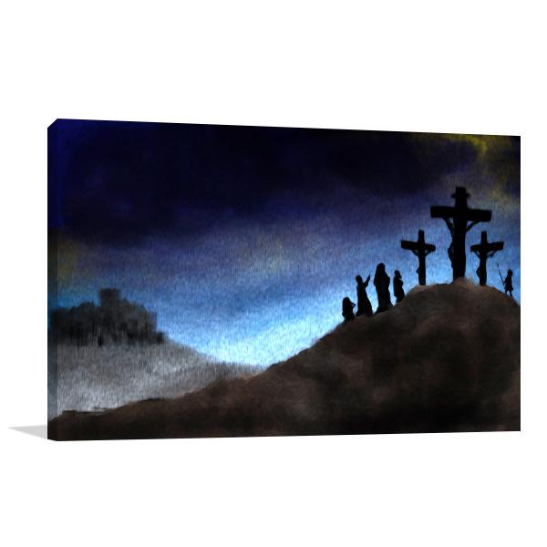 Crucifixion Print Artwork