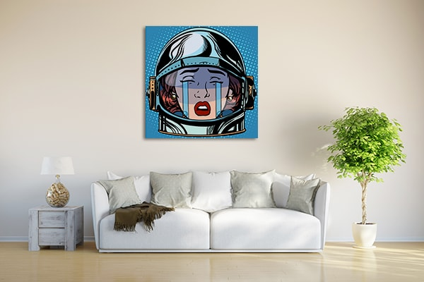 Crying Astronaut Art Print