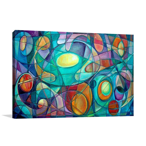 Cubism Abstract Print Canvas