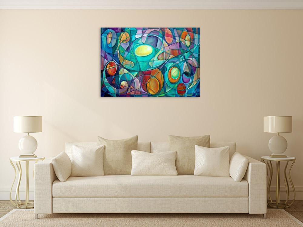 Print on Canvas Cubism Art