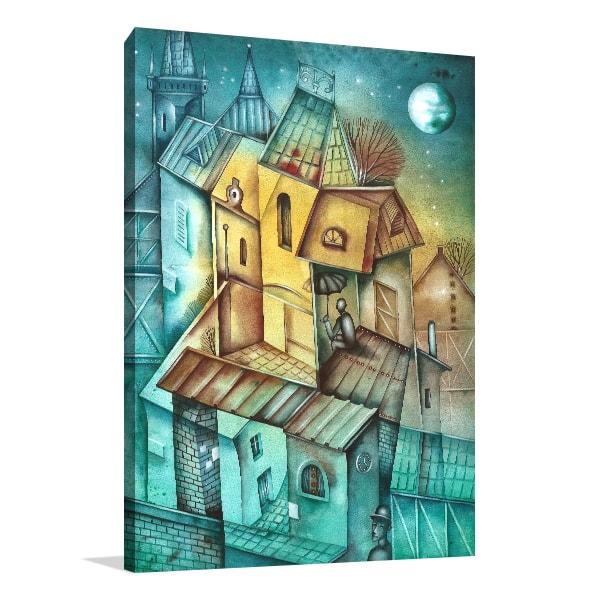 Cubistic City Canvas Art