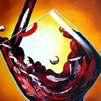 Hand Painted Cuisine Oil Paintings on Canvas