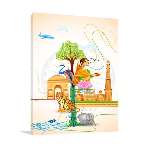 Culture of India Canvas Art Prints