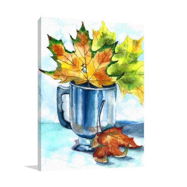 Cup Of Foliage Canvas Prints
