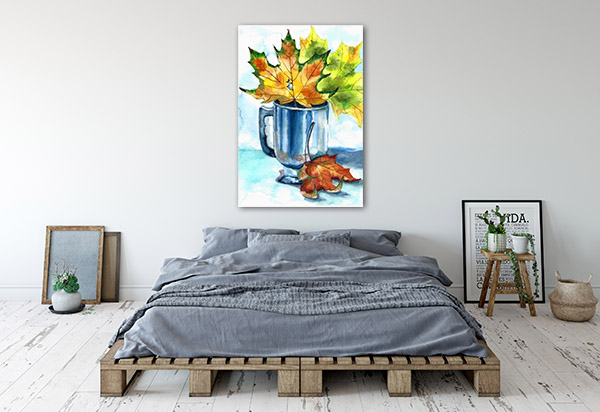 Cup Of Foliage Print Artwork