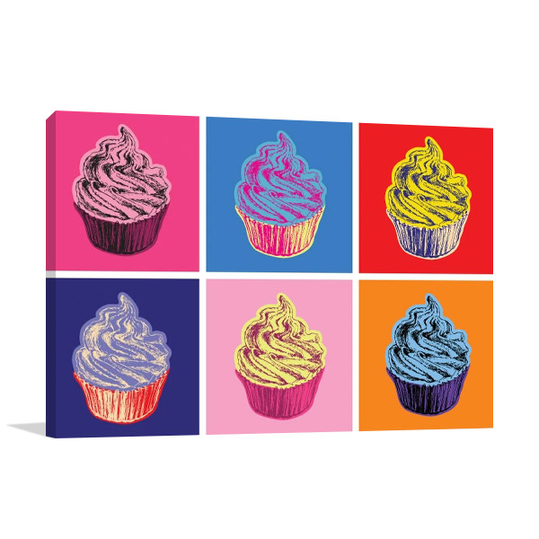 Cupcakes Food Print on Canvas