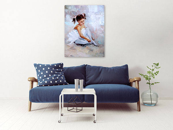 Cute Ballerina Canvas Prints