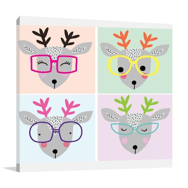 Cute Deer Print Artwork