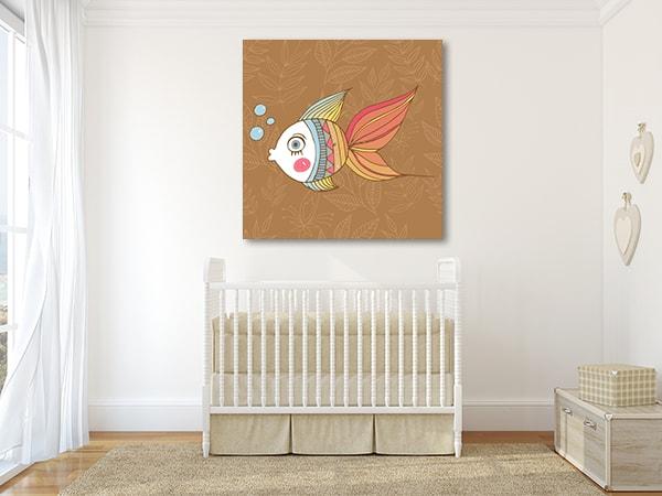 Cute Fish Canvas Art