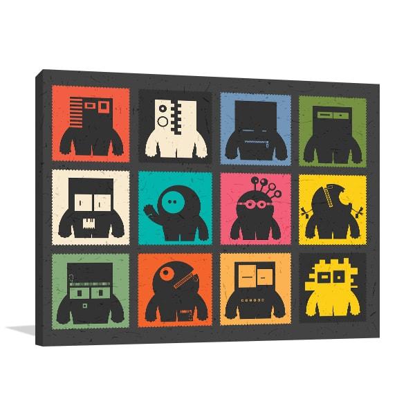 Cute Robots Artwork