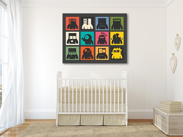 Cute Robots Canvas Prints