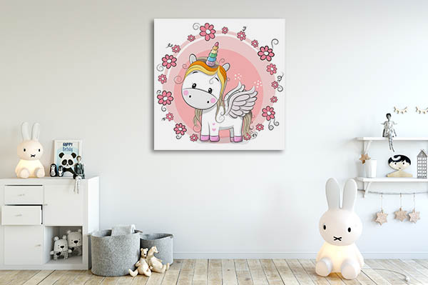 Cute Unicorn Canvas Prints