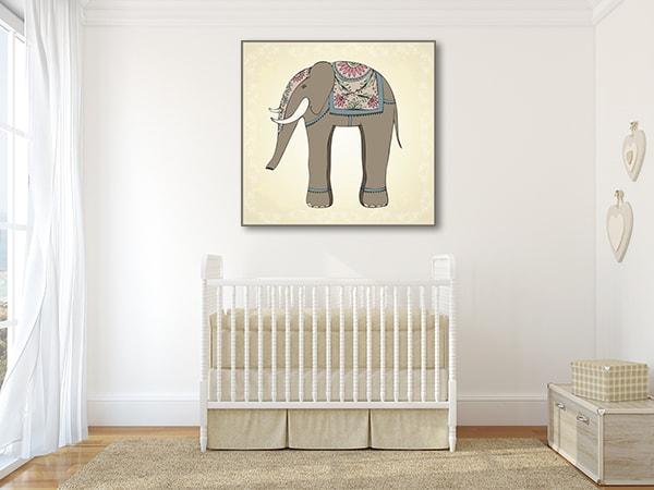 Cutie Elephant Canvas Prints