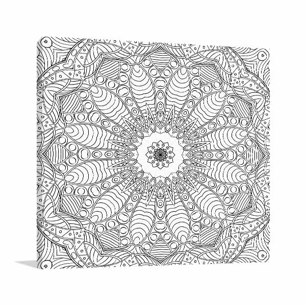 Daisy Ethnic Pattern Wall Art