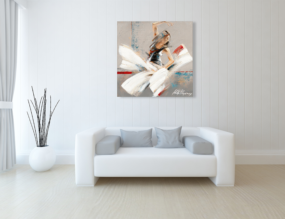 Abstract Dance Print on Canvas