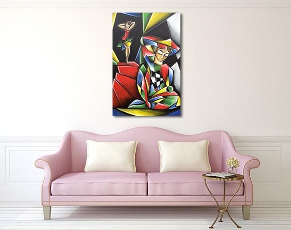 Dancer and Harlequin Prints Canvas