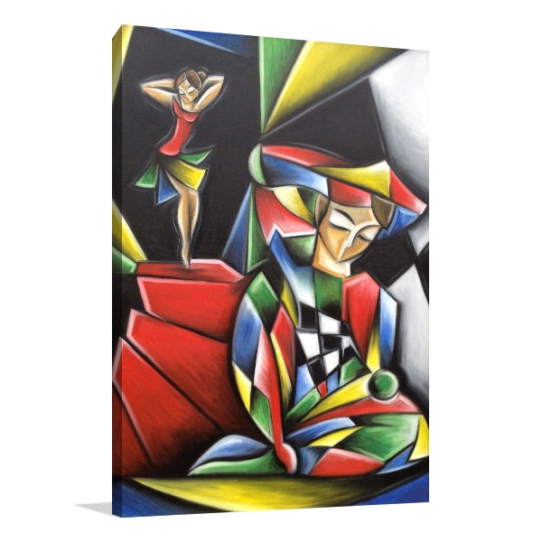 Dancer and Harlequin Wall Art